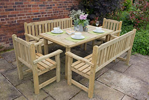Rosedene outdoor timber garden furniture range