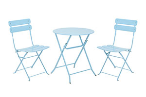 Ashford bistro garden furniture set in duck egg blue