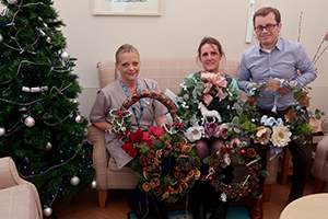 Haskins Garden Centre donates festive wreaths to Forest Holme Hospice