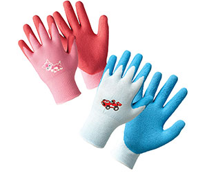 Gardening gloves for children to wear during National Gardening Week