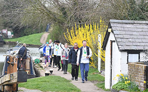 Charity walkers for Garden Re-Leaf Day 2019