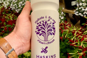 The Haskins reusable water bottles