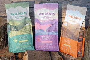 Wilsons pet food – a selection of bags