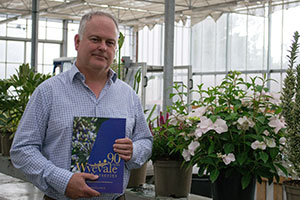Andy Johnson from Wyevale Nurseries holding new catalogue