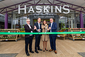 Grand re-opening of redeveloped Haskins garden centre