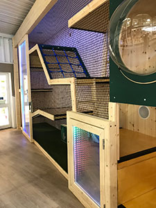 Indoor playground at garden centre