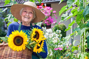 Gardens are a stimulating, peaceful outdoor environment for those with dementia