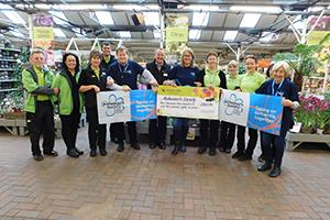 Haskins with Alzheimer's Society cheque